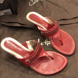 Cole Haan Cybil Thong II Lacquer Red